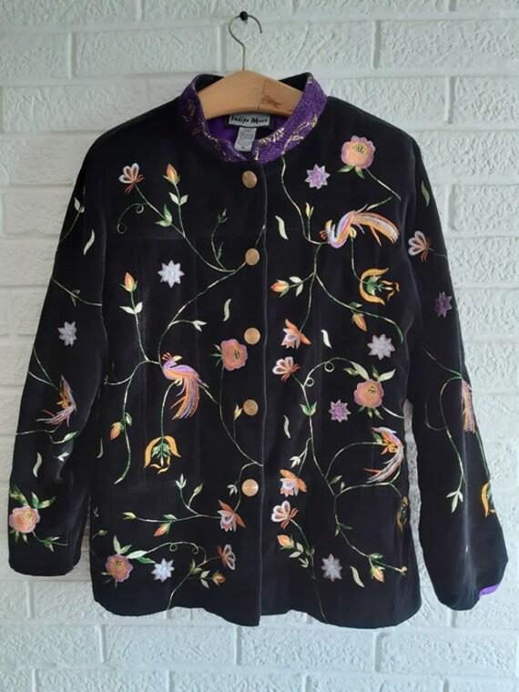 Indigo Moon women's jacket .vintage embroidery - image 4