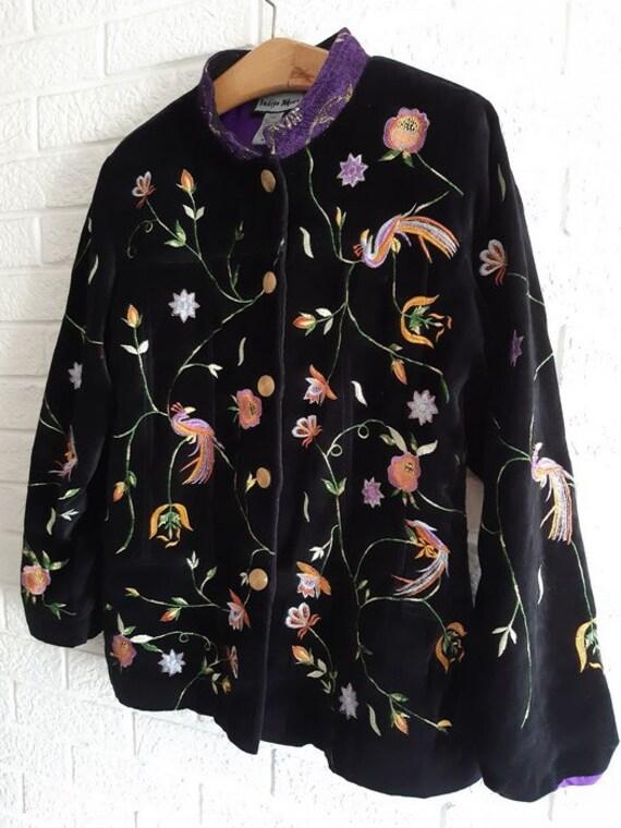 Indigo Moon women's jacket .vintage embroidery - image 2