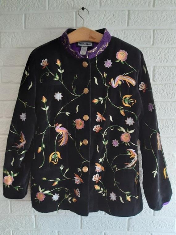 Indigo Moon women's jacket .vintage embroidery - image 1