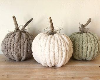 Chunky yarn pumpkin - fall pumpkins - fall - pumpkin