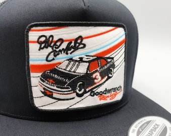 Made In USA Vintage 80s 90s Dale Earnhardt Jr Nascar Racing Snapback Hat Baseball Cap