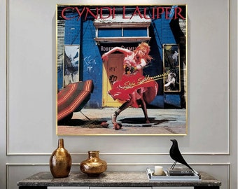 Cyndi Lauper - She's So Unusual music album room wall decoration frameless canvas poster