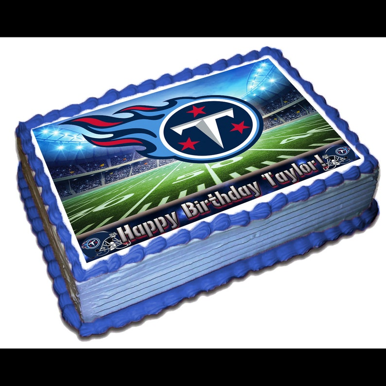 Tennessee Titans Edible Cake Topper Icing Sugar Paper