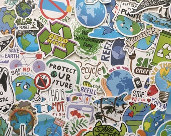 Save the Earth Protect Our Planet Matte Vinyl Waterproof Stickers!