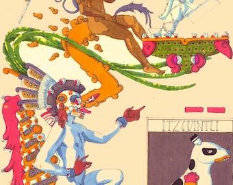 Your Aztec Calendar sign read, digital file. Aztec, Mayan, Mexica Calendar Tonalpohualli