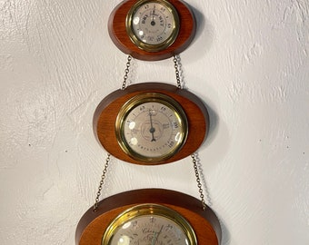 Vintage Mid Century Modern Swift Weather Station