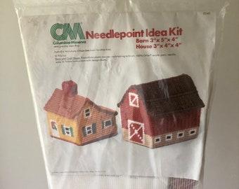 Columbia-Minerva Plastic Canvas Needlepoint Kit 8278 Box car /& Caboose