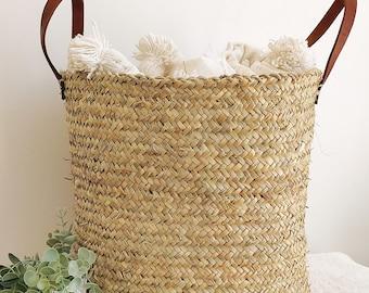 Laundry basket, Wicker storage basket, Dirty laundry basket