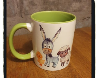 Tasse Kinder Bauernhoftiere