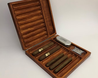 Personalized Cigar Box,Humidor, For Cigar FREE Express SHIPPING Custom Humidor Cigar Case Father's Day Gift for Him Gift for Man Cave
