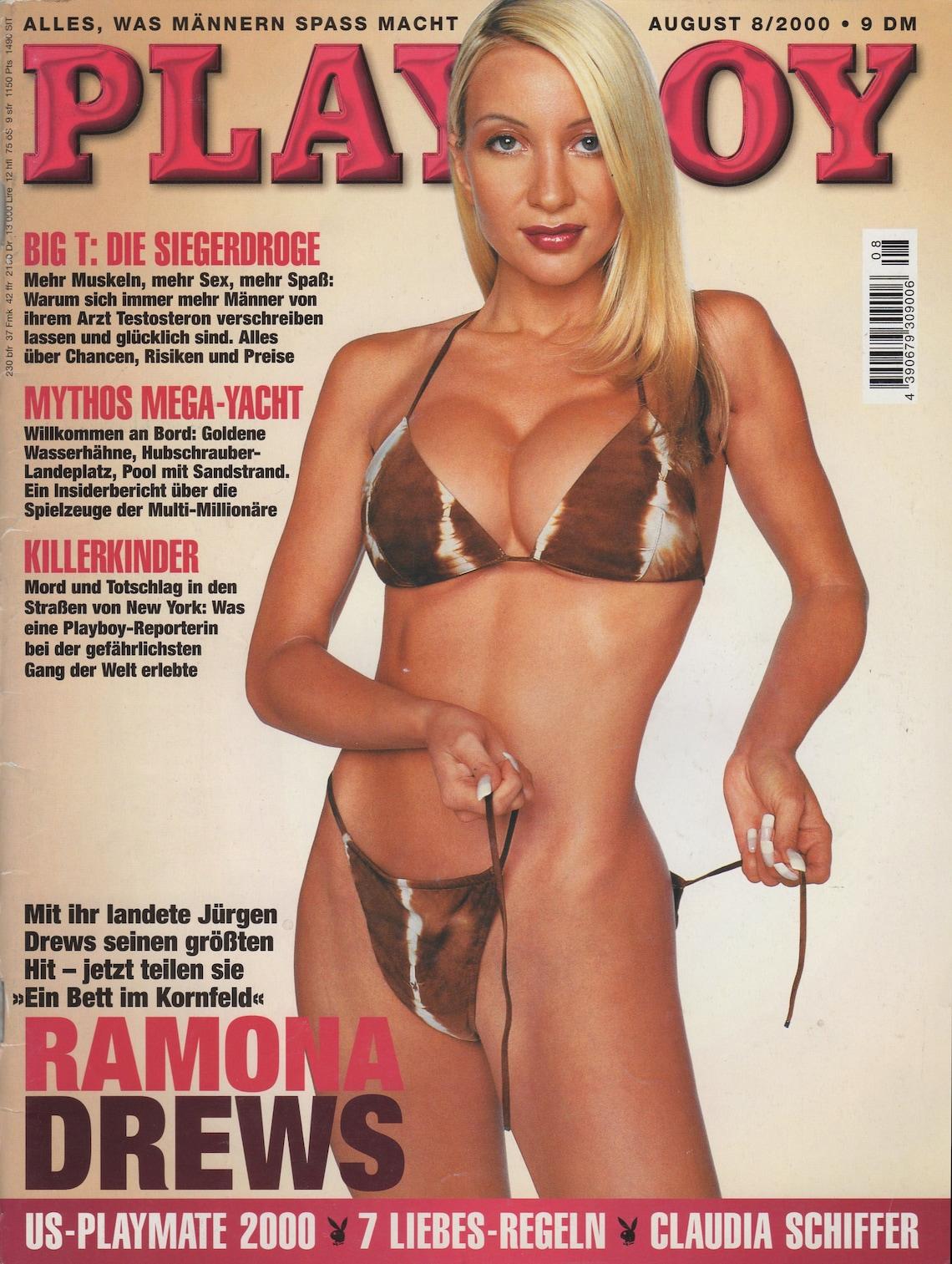 PLAYBOY Magazin August 2000 / German Edition / Erotik   Etsy