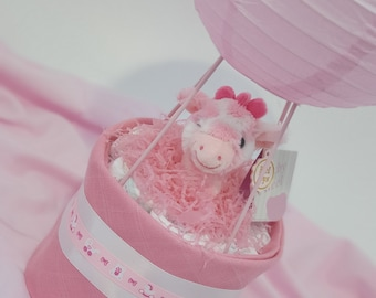 Mini Nappy Balloon, New Baby Gift, Gift, Baby Boy, Baby Girl, Baby Shower, Nappy Cake, Mum to be, Pink, Blue, White, Grey