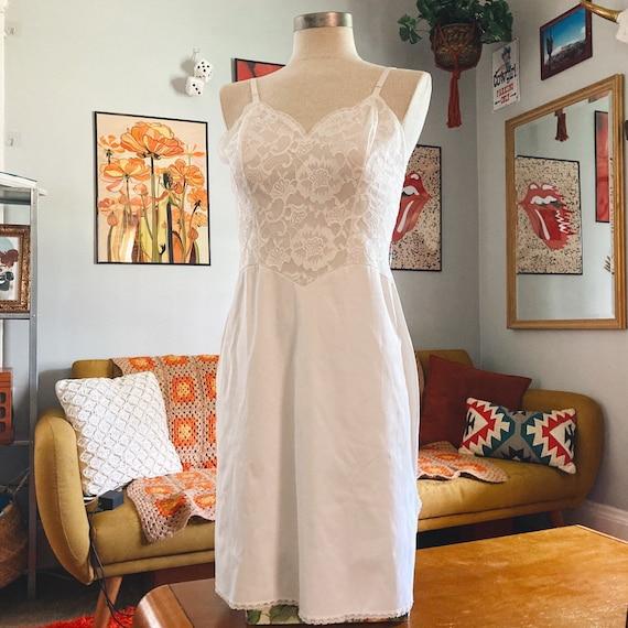 Vintage Lace Slip Dress 50s Fairycore Cottagecore… - image 1