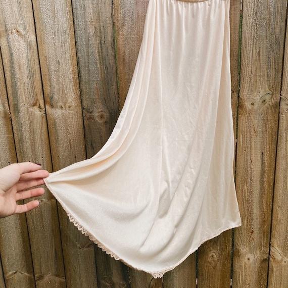 Vintage Half Slip Skirt 50s Beige Fairycore Cotta… - image 2