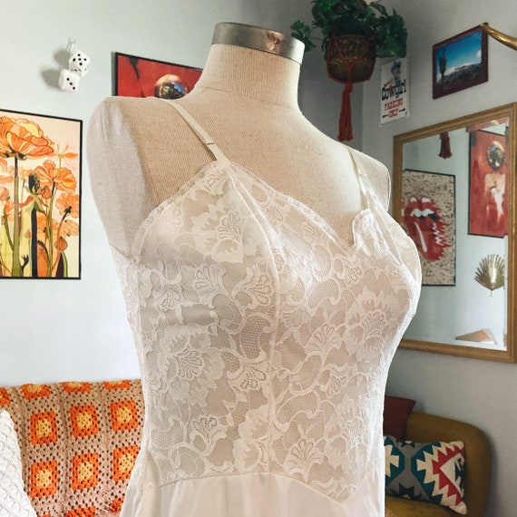Vintage Lace Slip Dress 50s Fairycore Cottagecore… - image 2