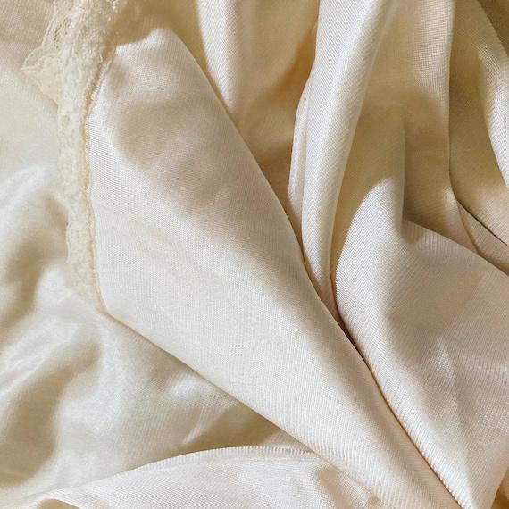 Vintage Ivory Slip Dress 70s Fairycore Cottagecor… - image 3