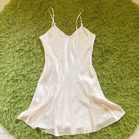 Vintage Peach/Rose Slip Dress 80s Fairycore Cotta… - image 2