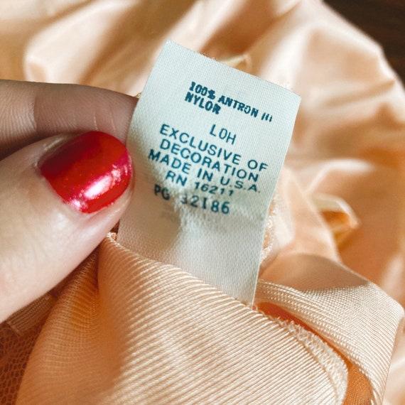 Vintage Peach/Rose Slip Dress  70s Fairycore Cott… - image 4