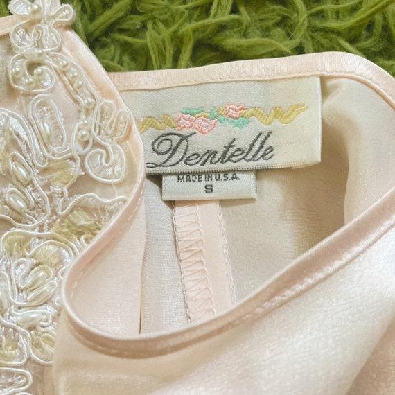 Vintage Peach/Rose Slip Dress 80s Fairycore Cotta… - image 4