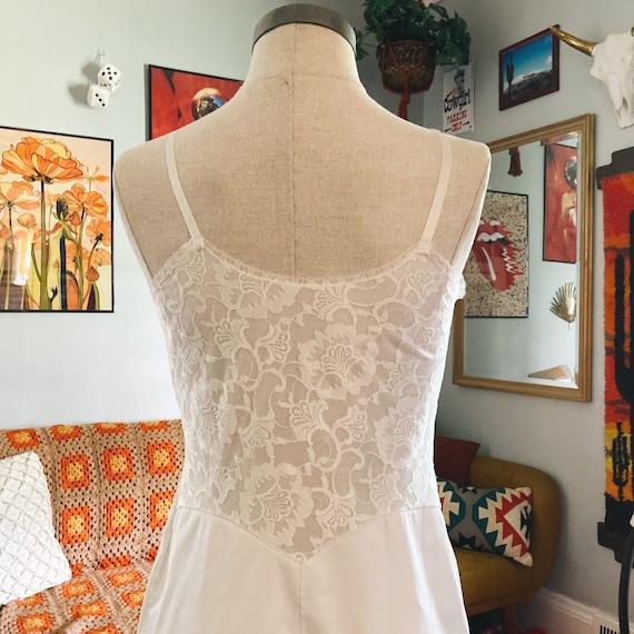 Vintage Lace Slip Dress 50s Fairycore Cottagecore… - image 3