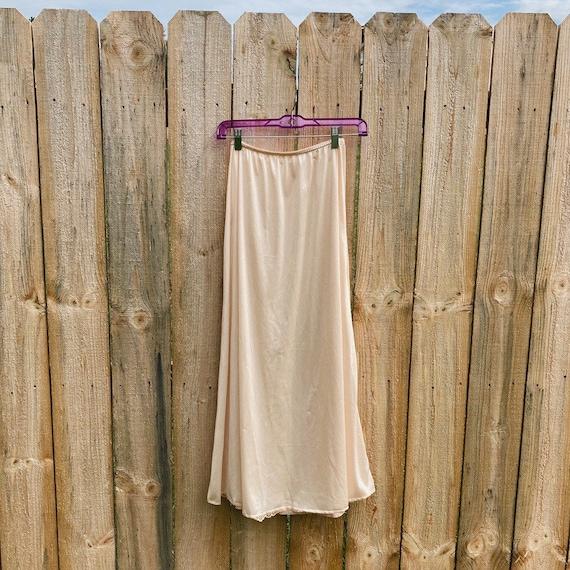 Vintage Half Slip Skirt 50s Beige Fairycore Cotta… - image 4