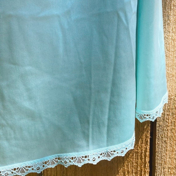 Vintage Half Slip Skirt 70s Tiffany Blue Fairycor… - image 2