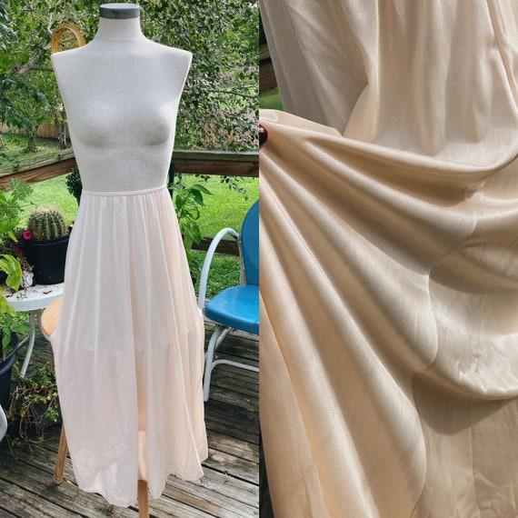 Vintage Half Slip Skirt 50s Beige Fairycore Cotta… - image 1