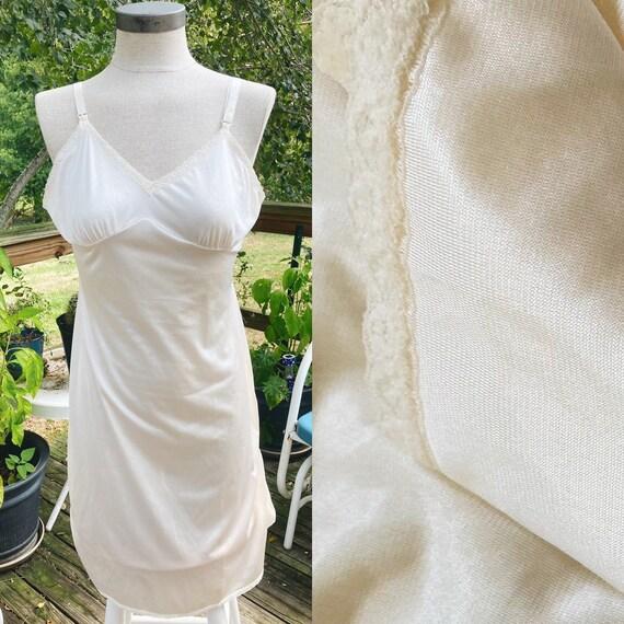 Vintage Ivory Slip Dress 70s Fairycore Cottagecor… - image 1