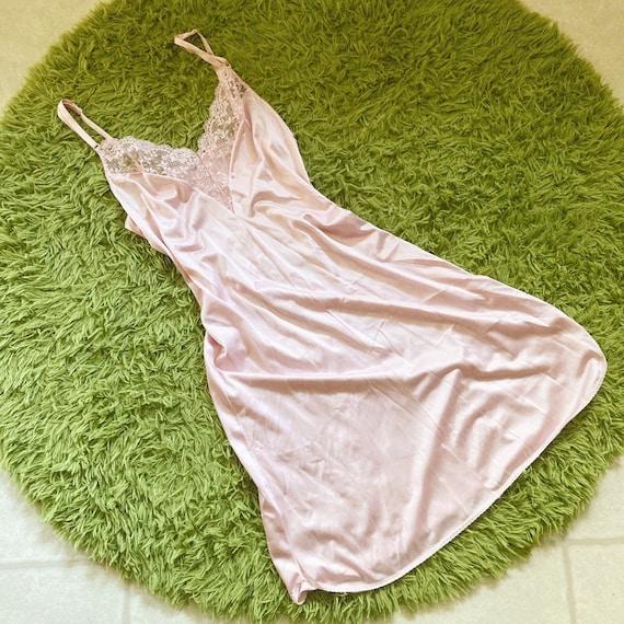 Vintage Pastel Pink Slip Dress Y2K Fairycore Cott… - image 3