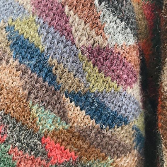 Vintage Rainbow Geometric Oversized Sweater - image 4