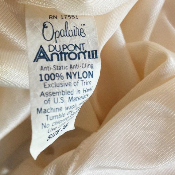 Vintage Ivory Slip Dress 70s Fairycore Cottagecor… - image 4