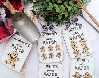 christmas ornaments . personalized christmas gifts. gifts for grandparents.  christmas gifts. gingerbread ornaments. gingerbreadtier tray