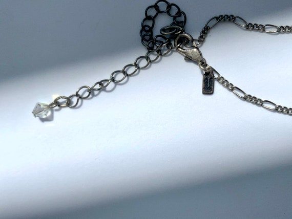 Fairycore Vintage Sadie Green Necklace AB Glass - image 5