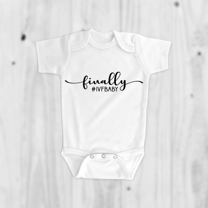 IVF Gift IVF Free Shipping Worth Every Shot Baby Gift Infertility Onesie IVF Baby Onesie Baby Shower Gift Pregnancy Reveal