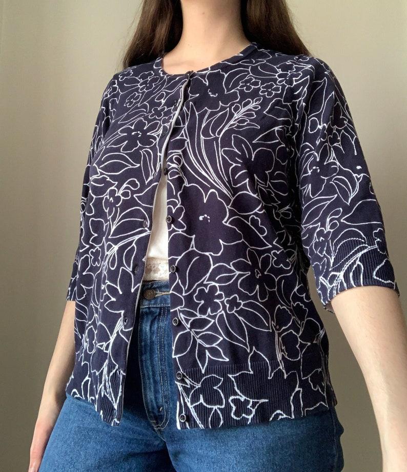 Vintage y2k Floral Cardigan size LXL