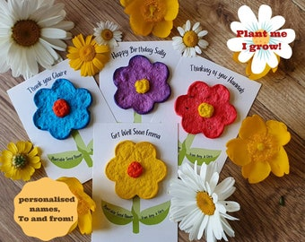 Plantable Flower Gift, Seed Bomb, Thinking of You, Happy Birthday, Get Well Soon, Thank You, Teacher Gift, Eco Friendly, Biodegradable