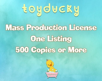 Mass Production Use License - No Credit - One Listing (500 Copies or More)