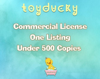 Commercial Use License - No Credit - One Listing (Under 500 Copies)
