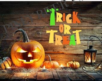 Trick or Treat Halloween Digital Card