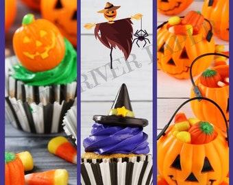 3 Halloween Treat Bookmarks Digital