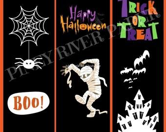 3 Halloween Bookmarks Digital