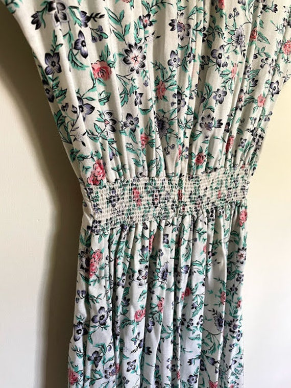 80s Maggie Lawrence Cottagecore Ruffle Front Romp… - image 7