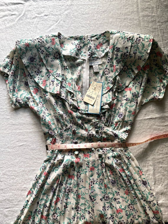80s Maggie Lawrence Cottagecore Ruffle Front Romp… - image 4