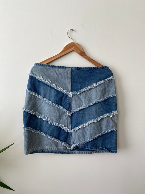 Size L 13 Y2k denim mini skirt, y2k clothes for w… - image 2