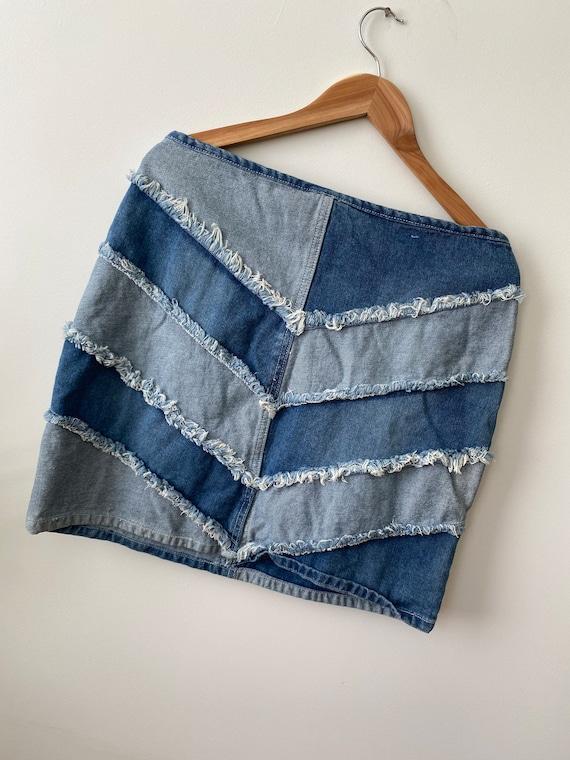 Size L 13 Y2k denim mini skirt, y2k clothes for w… - image 8