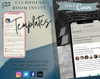 Clubhouse App Room Invite-Business Architecture Template