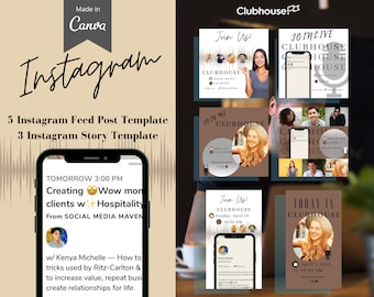 Clubhouse Canva Template for Instagram