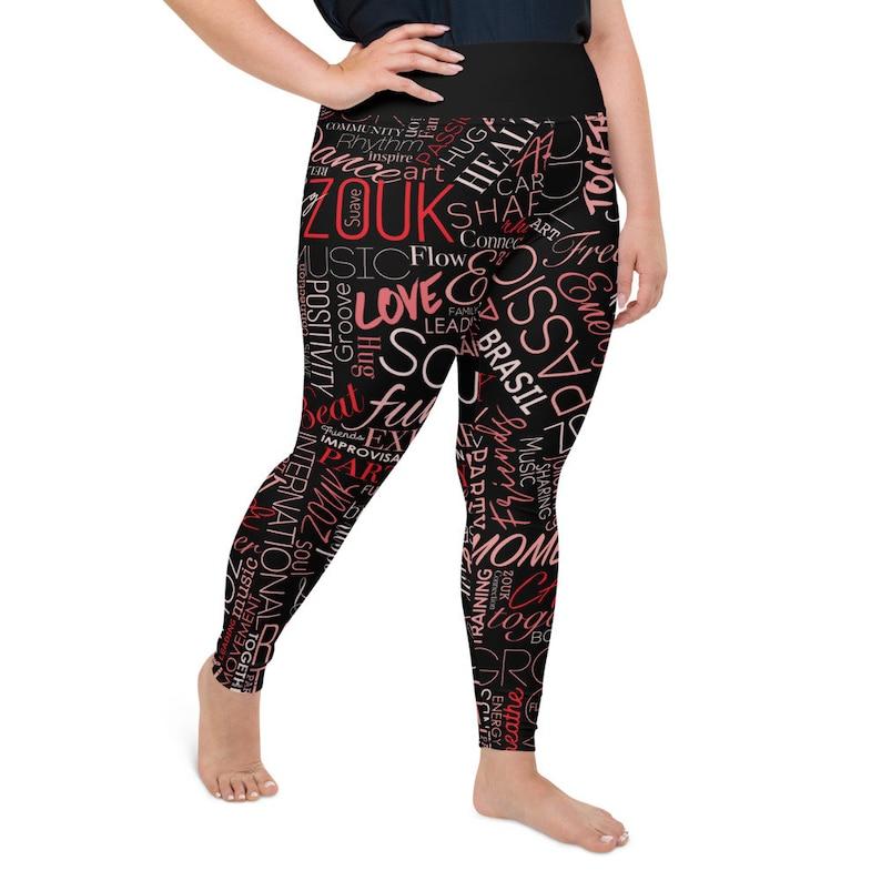Leggings Zouk Red Plus Size