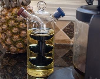 Double Layer 2 in 1 Oil Vinegar Glass Bottle