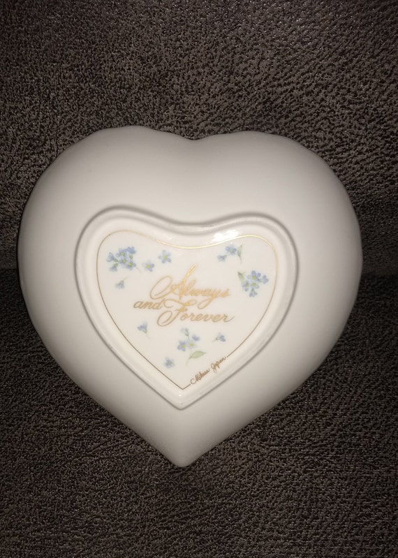Mikasa Always and Forever Heart Rose Candy Dish / Made in Japan / Trinket Dish / Jewelry Dish / Scalloped edge plate / collectible plate
